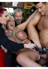 Busty Blonde Candela X Submits In Biker Bar